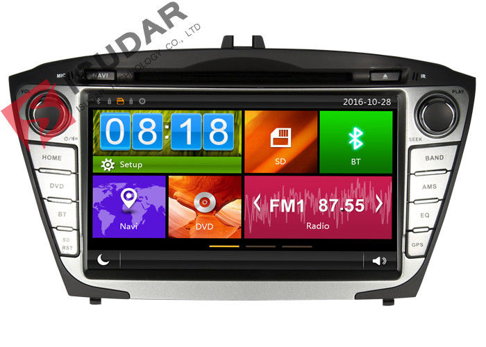 Steering Wheel Control Hyundai Ix35 Dvd Player , In Dash Car Entertainment System
