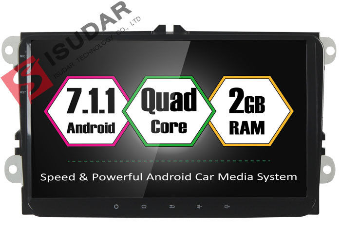HD 1024*600 In Dash Android Head Unit , Volkswagen Car Stereo WIth CANbus