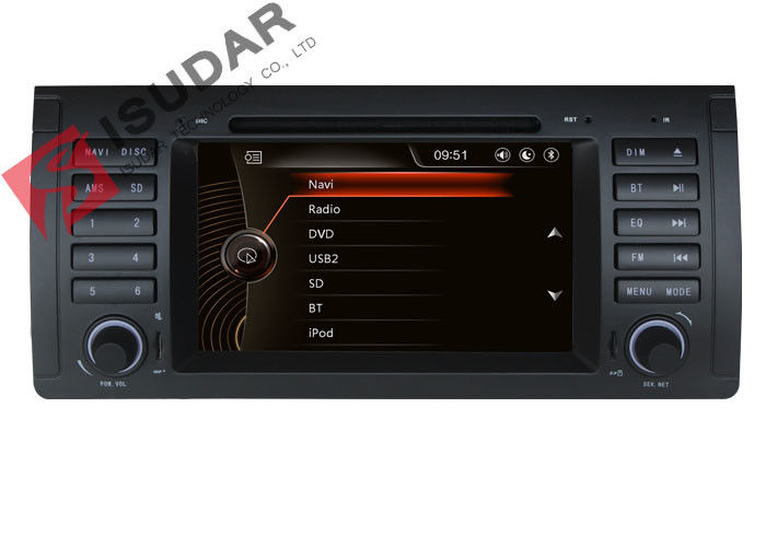 Classic Front Panel BMW E39 Sat Nav Automotive Dvd Player Efficient Heat Dissipation