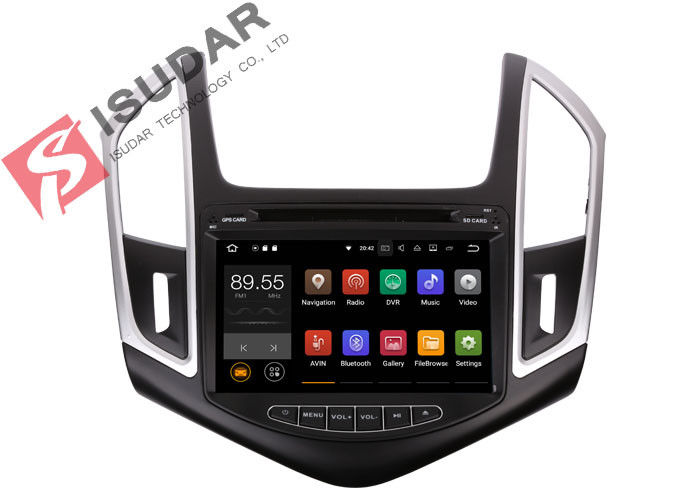 Quad Core Double Din Bluetooth Car Stereo , Chevrolet Cruze GPS NavigationSplit Screem