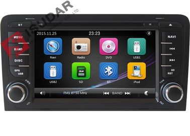Layar Kapasitif Audi Car Dvd Player, Double Din Car Media Player Dengan DVD Speed ​​Reading