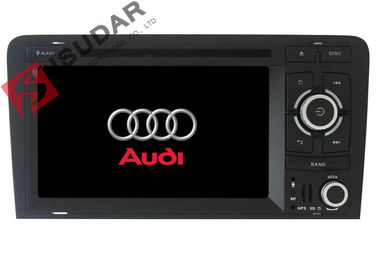 Dukungan TPMS 2 Din Car Dvd Player Audi A3 Head Unit Wifi GPS Radio 16G ROM