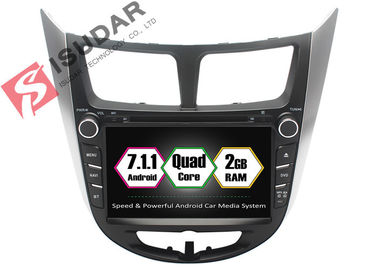Rockchip PX3 7 Inch 2 Din Android Car DVD Player Untuk Hyundai Verna / Accent / Solaris