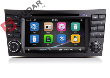 Cina Radio Otomatis Double Din Gps Stereo Mobil, Mercedes E Class Dvd Player Built In SD Port pabrik