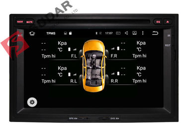 1024x600 Octa Core Android 2 Din Car DVD Player Peugeot 3008 Head Unit Mendukung 3G / 4G